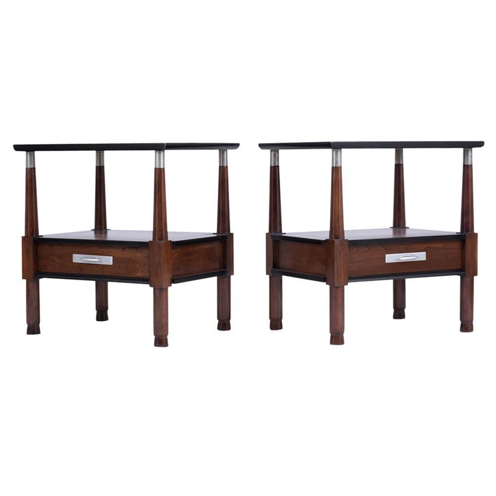 Set of Mid-Century Modern Nightstands