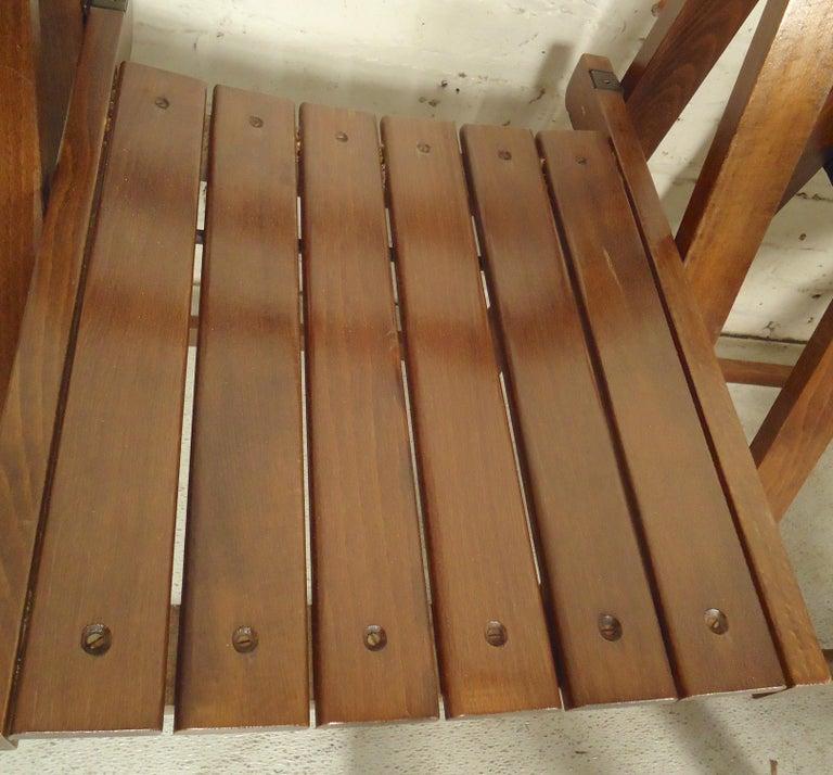 Set of Mid-Century Modern Slat Chairs 1