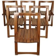 Set of Mid-Century Modern Slat Chairs