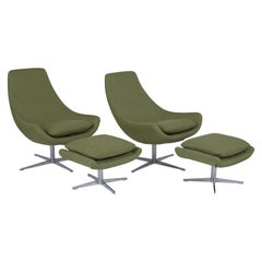 Set of Mid-Century Modern Swivel Chairs