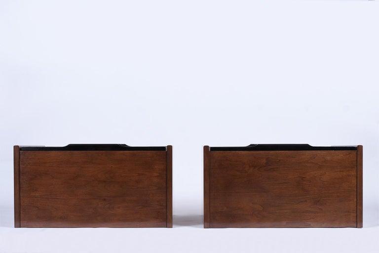 Pair of Mid-Century Modern Walnut Dressers For Sale 4