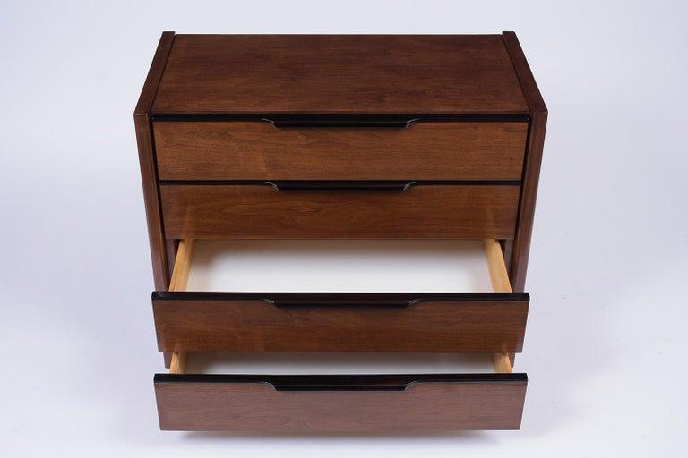 Mid-20th Century Pair of Mid-Century Modern Walnut Dressers For Sale