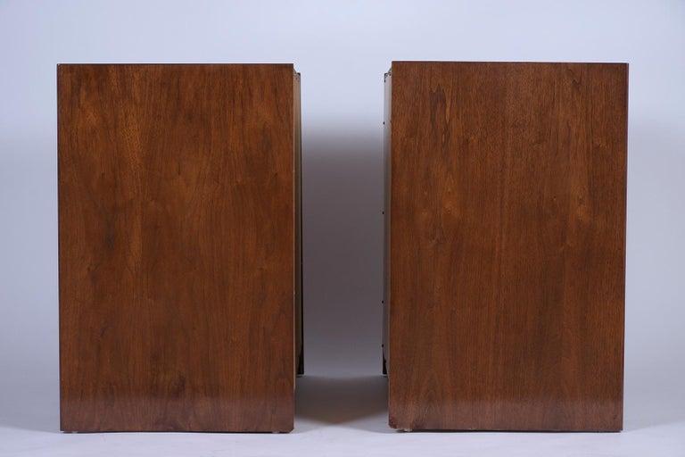 Pair of Mid-Century Modern Walnut Dressers For Sale 2