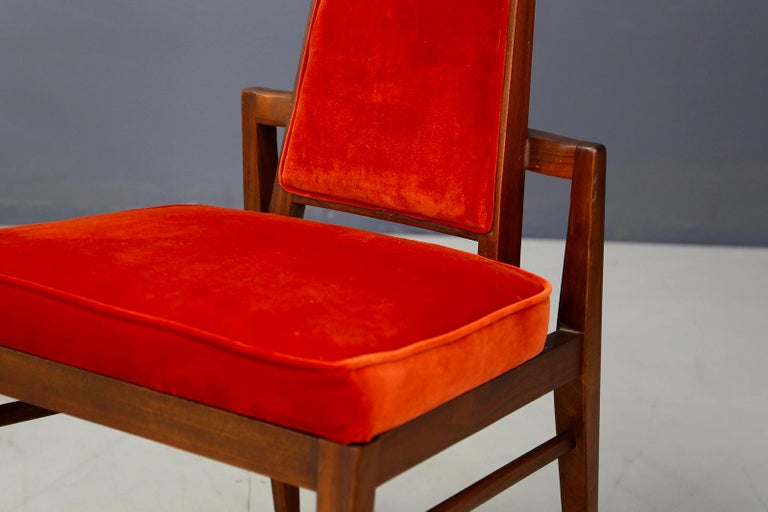 American Set of Midcentury Asain Armchairs Attributed a James Mont, 1950s  For Sale
