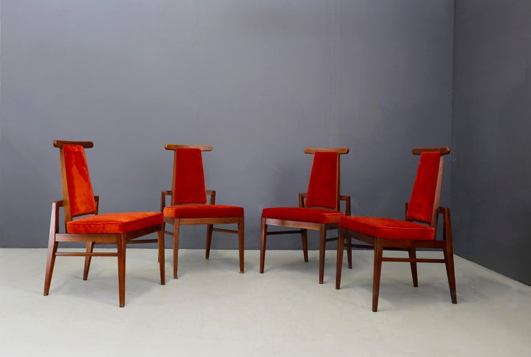 Mid-20th Century Set of Midcentury Asain Armchairs Attributed a James Mont, 1950s  For Sale