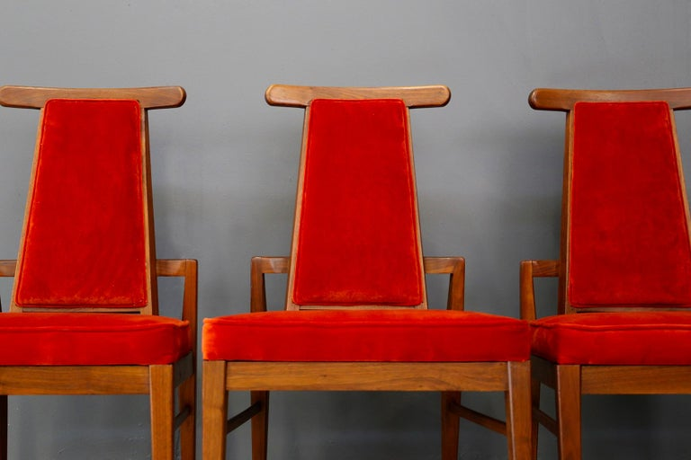 Set of Midcentury Asain Armchairs Attributed a James Mont, 1950s  For Sale 1