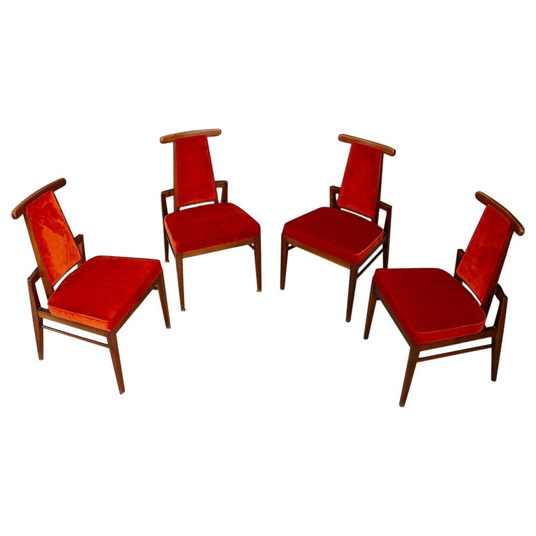 Set of Midcentury Asain Armchairs Attributed a James Mont, 1950s  For Sale