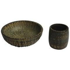 Set of Midcentury Ceramic Bowls by Gunnar Nylund for Rörstrand