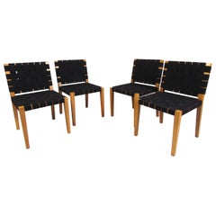 Set of Midcentury Fabric Weave Chairs