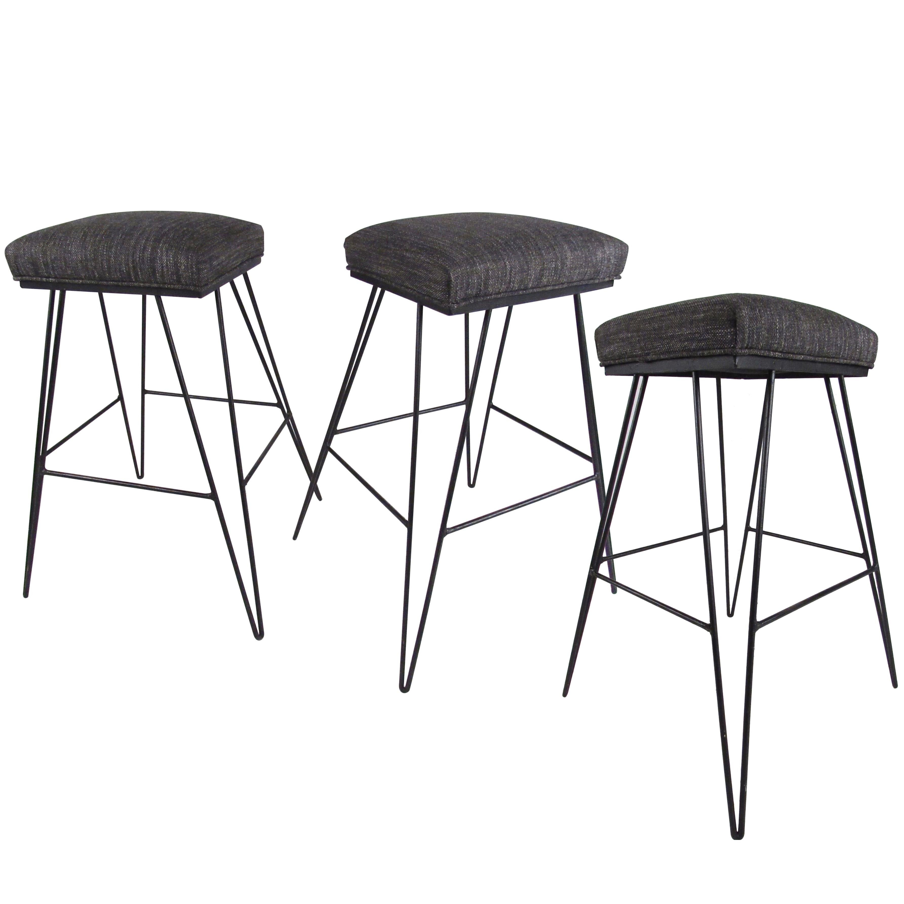 Set of Midcentury Hairpin Barstools