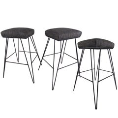 Set of Midcentury Hairpin Barstools