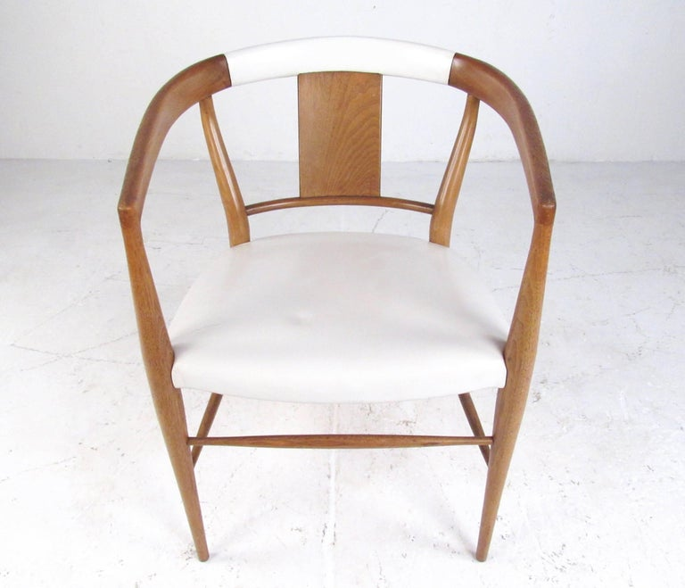 Mid-20th Century Set of Midcentury Leather Dining Chairs by Heritage Henredon For Sale