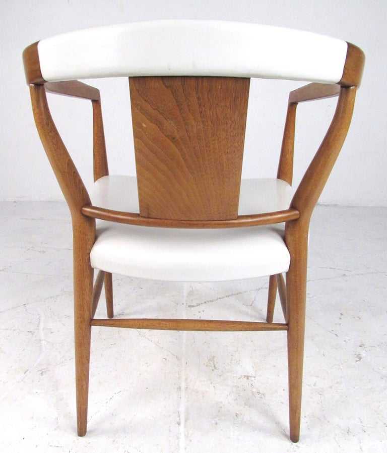 Set of Midcentury Leather Dining Chairs by Heritage ...