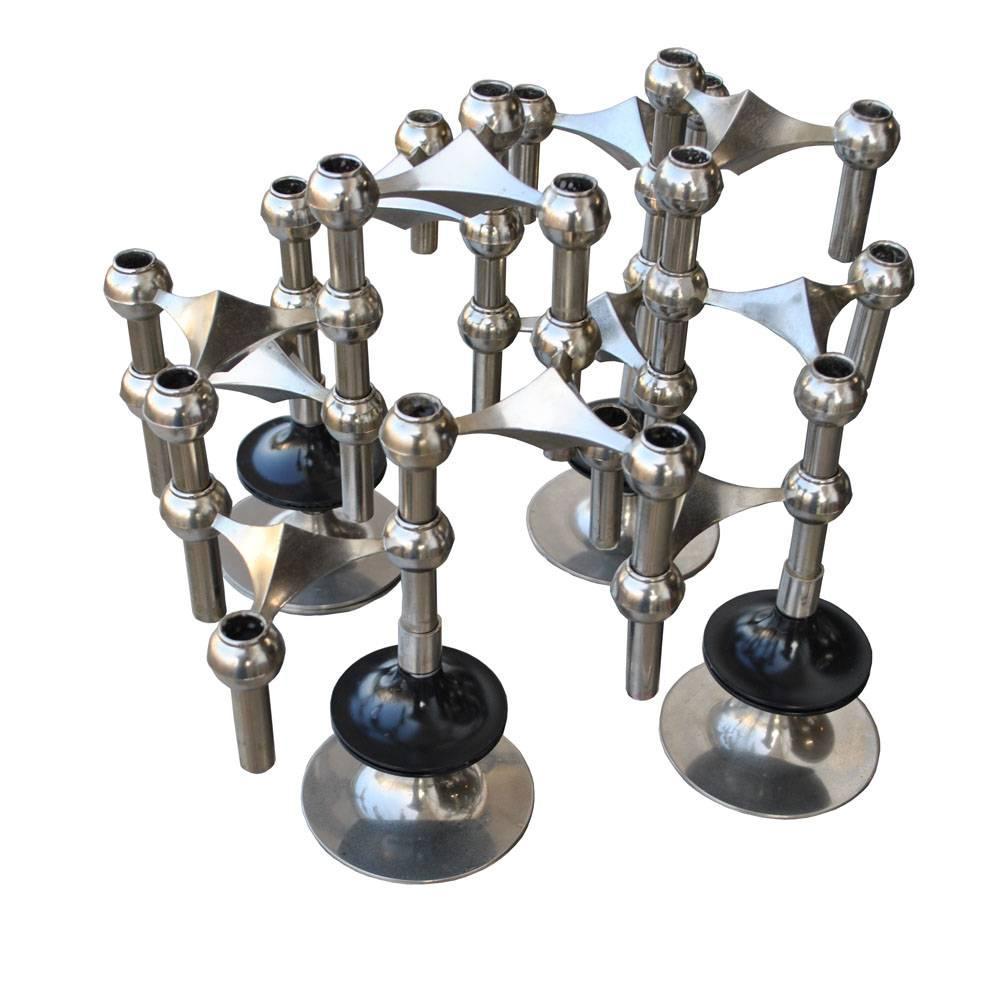 Set of Midcentury Nagel and Stoffi Modular Candleholders
