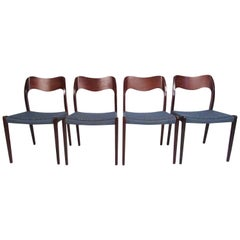 "Set of Midcentury N.O. Møller ""71"" Dining Chairs"