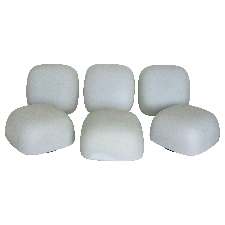 Modernist Satin Glass Flush Mount Light Fixtures