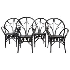 Set of Moroccan Wicker Chairs