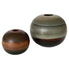 Set of Nanni Valentini Ceramic Sphere Boxes for Ceramica Arcore