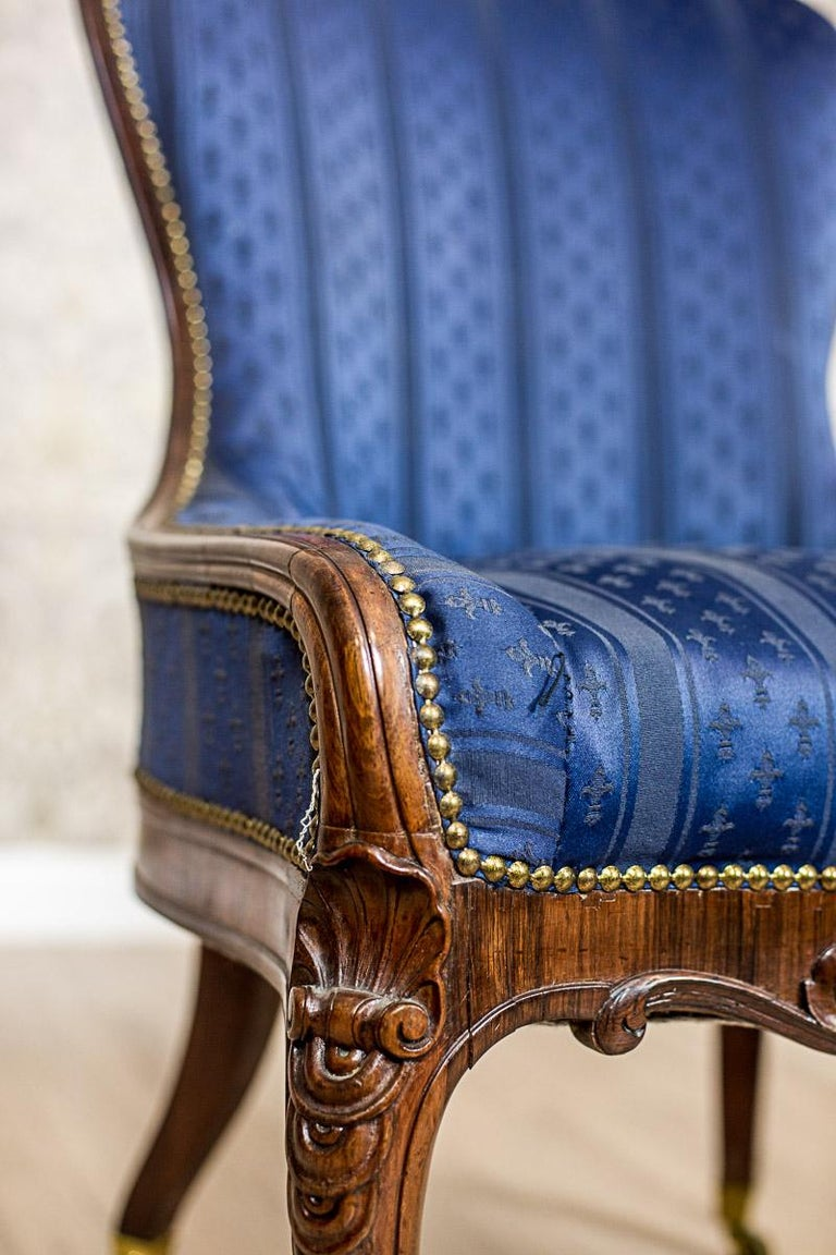 Set of Neo-Rococo Rosewood Armchairs from the 19th-20th Century For Sale 4