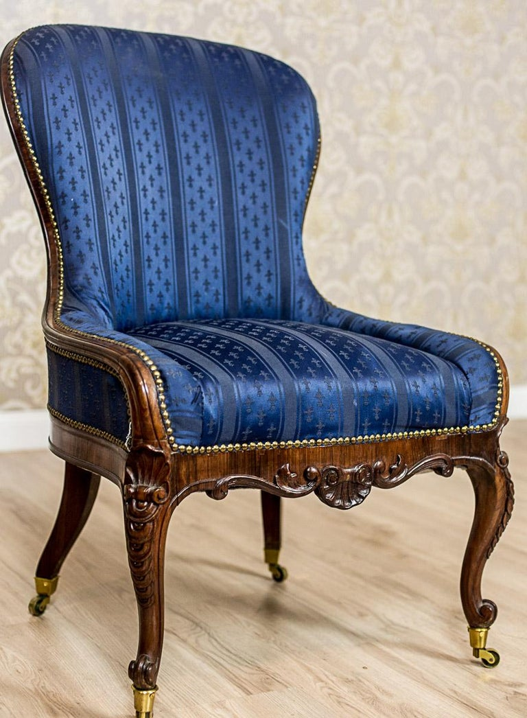 Set of Neo-Rococo Rosewood Armchairs from the 19th-20th Century For Sale 5
