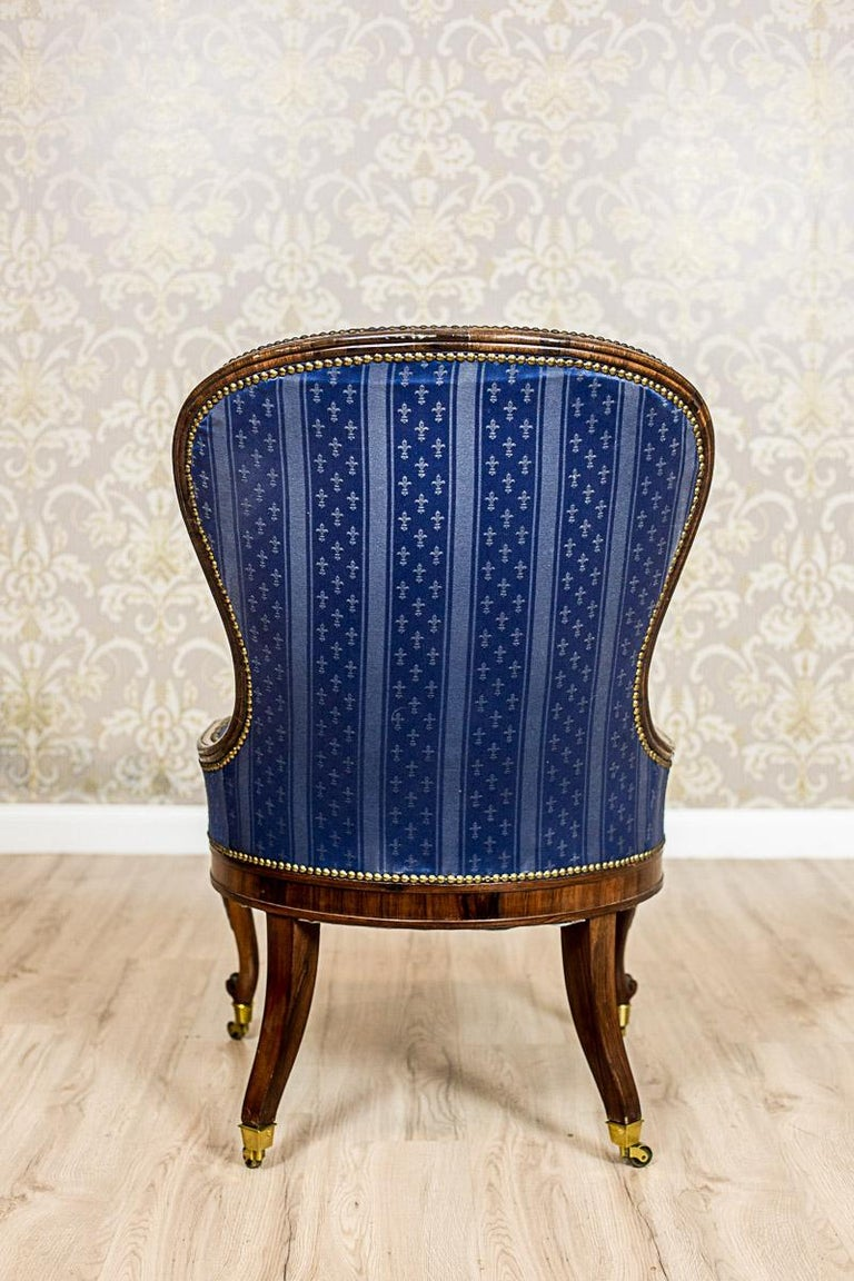 Set of Neo-Rococo Rosewood Armchairs from the 19th-20th Century For Sale 9