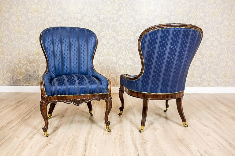 European Set of Neo-Rococo Rosewood Armchairs from the 19th-20th Century For Sale