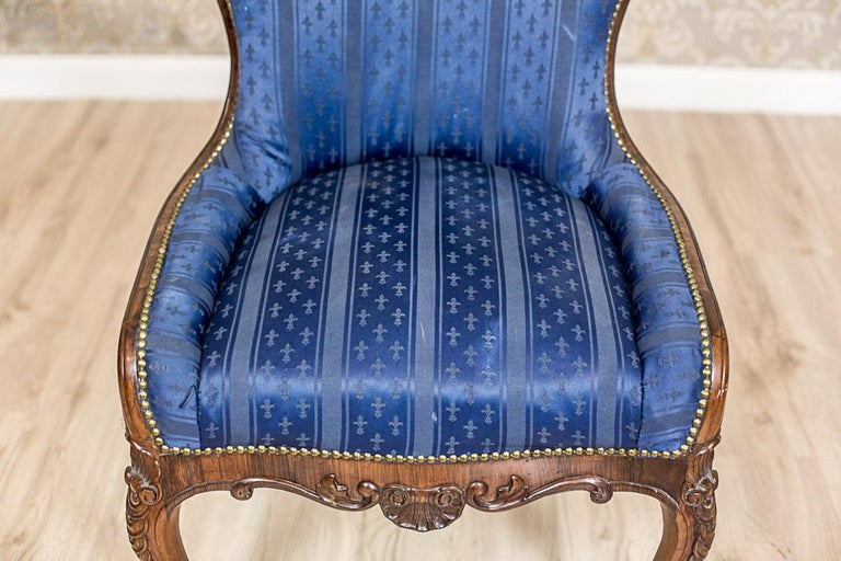 Set of Neo-Rococo Rosewood Armchairs from the 19th-20th Century For Sale 2
