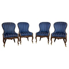 Set of Neo-Rococo Rosewood Armchairs from the 19th-20th Century