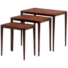 Set of Nesting Tables by Erik Riisager Hansen for Haslev Møbler, Denmark, 1960s