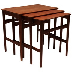 Set of Nesting Tables in Teak Designed by Hans J. Wegner and from the 1960s