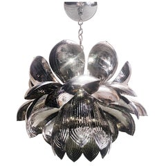 Set of Nickel-Plated Lotus Flower Fixtures, Sold Individually