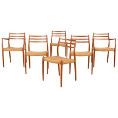 Set of Niels Moller Mid-Century Modern Dining Chairs