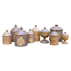 Set of Nine 19th Century Afghani Spice Boxes