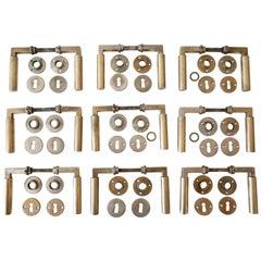Set of Nine Bauhaus Bronze Door Handles by Walter Gropius & Adolf Meyer 1930s