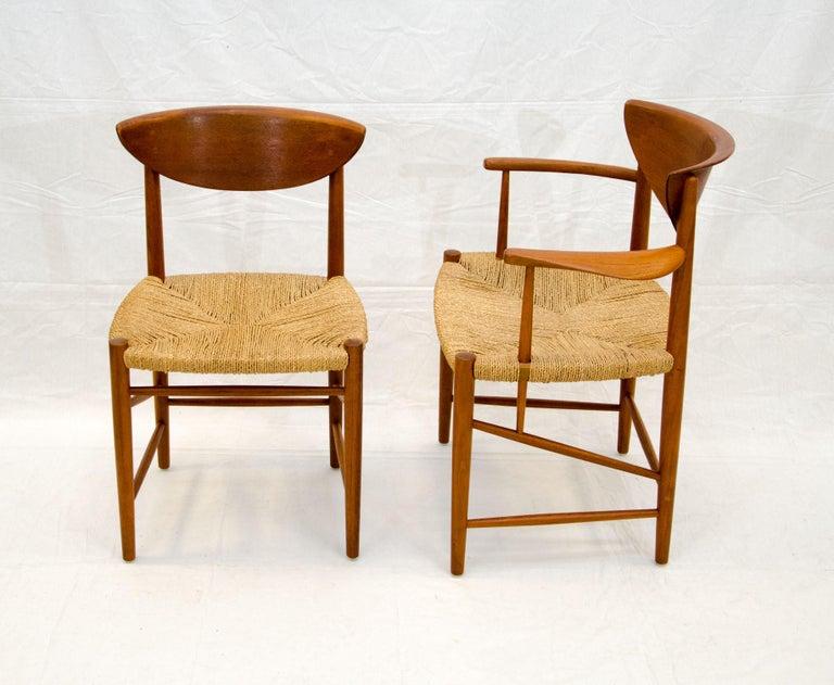 Scandinavian Modern Set of Nine Danish Teak Dining Chairs by Peter Hvidt For Sale