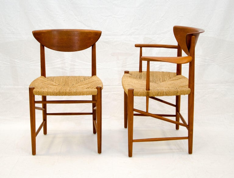 Set of Nine Danish Teak Dining Chairs by Peter Hvidt In Excellent Condition For Sale In Crockett, CA