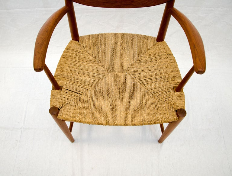 Set of Nine Danish Teak Dining Chairs by Peter Hvidt For Sale 3