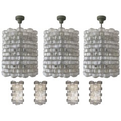 "Set of Nine ""Festival"" Light Fixtures by Gert Nyström for Orrefors, circa 1950s"