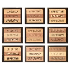 Set of Nine Framed American Typography Pages, 1938