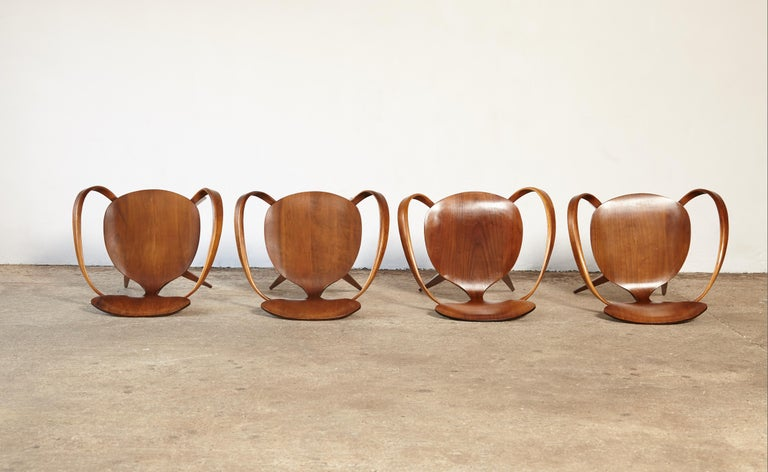 Set of Norman Cherner Pretzel Dining Chairs, Made by Plycraft, USA, 1960s For Sale 3