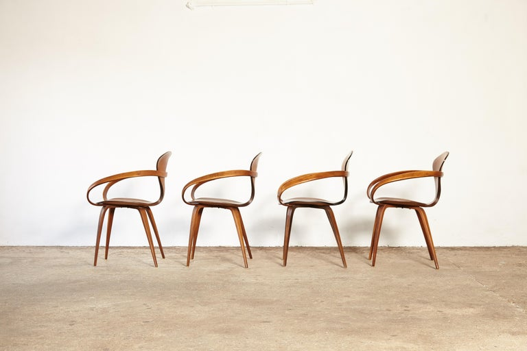 American Set of Norman Cherner Pretzel Dining Chairs, Made by Plycraft, USA, 1960s For Sale