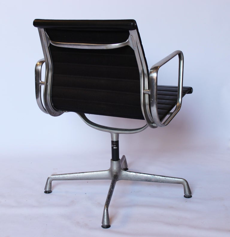 Scandinavian Modern Set of Office Chairs, Model EA 107, Charles and Ray Eames, 1970s For Sale