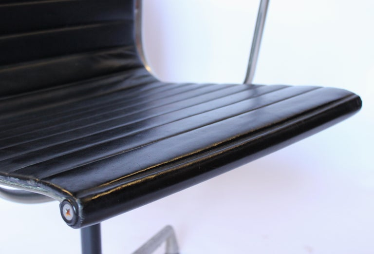 Danish Set of Office Chairs, Model EA 107, Charles and Ray Eames, 1970s For Sale