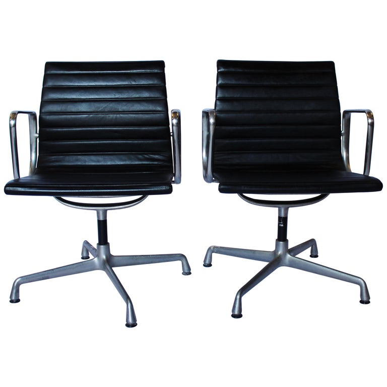 Set of Office Chairs, Model EA 107, Charles and Ray Eames, 1970s For Sale