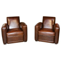 Set of Old Club Chairs