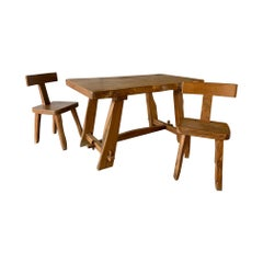 Set of One Table and Two Chairs by Olavi Hänninen