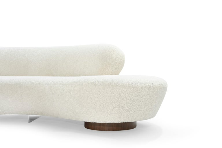 Set of Opposing Sofas by Vladimir Kagan in Bouclé For Sale 1