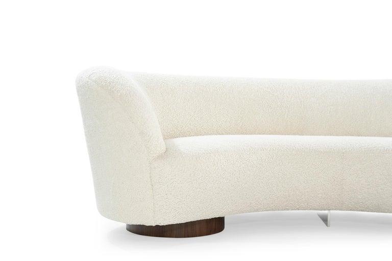 Set of Opposing Sofas by Vladimir Kagan in Bouclé For Sale 2