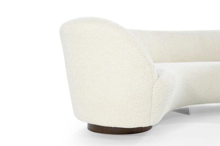 Set of Opposing Sofas by Vladimir Kagan in Bouclé For Sale 3