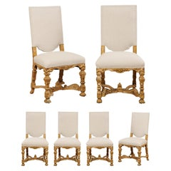 Set of Ornately Carved English 19th Century Renaissance Revival Side Chairs